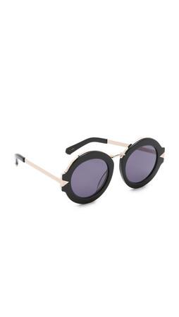 Karen Walker Special Fit Maze Sunglasses - Black/Smoke Mono