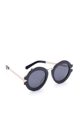 Karen Walker Special Fit Maze Sunglasses - Navy/Navy Mono