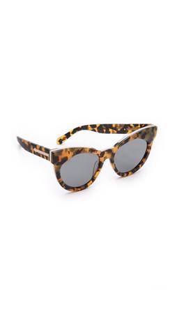 Karen Walker Starburst Sunglasses - Crazy Tort/G15 Mono