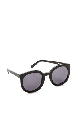 Karen Walker Super Duper Strength Sunglasses - Black