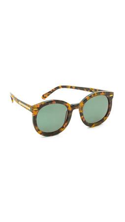 Karen Walker Super Duper Strength Sunglasses - Crazy Tort
