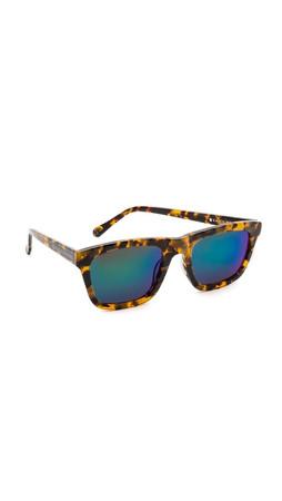 Karen Walker Superstars Collection Deep Freeze Mirrored Sunglasses - Crazy Tort/Green Revo