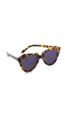 Karen Walker Superstars Collection Number One Mirrored Sunglasses - Crazy Tort/Blue Revo