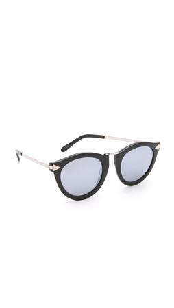 Karen Walker Superstars Harvest Sunglasses - Black/Silver