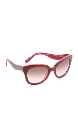 Kate Spade New York Amber Sunglasses - Red Pink/Warm Brown Grad