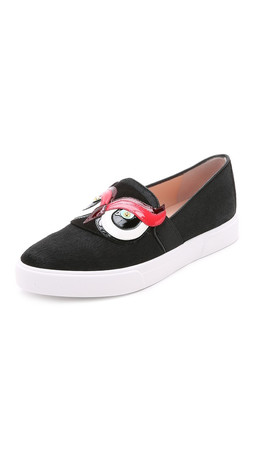 Kate Spade New York Colie Owl Haircalf Sneakers - Black