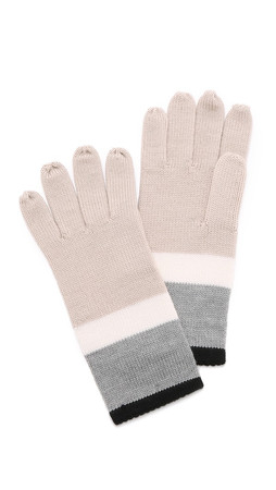 Kate Spade New York Colorblock Gloves - Grey Melange