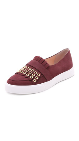 Kate Spade New York Courtney Grommet Slip On Sneakers - Wine