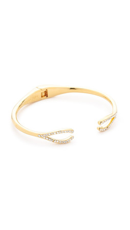 Kate Spade New York Dainty Sparklers Wishbone Cuff Bracelet - Gold/Clear