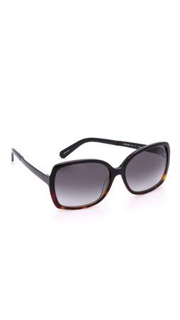 Kate Spade New York Darilynn Sunglasses - Black Tort Fade/Grey Gradient