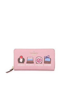 Kate Spade New York Dessert Lacey Zip Around Wallet - Rose Jade