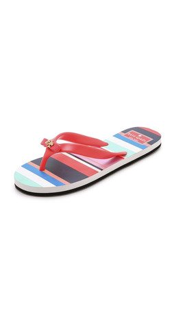 Kate Spade New York Fifi Flip Flops - Tomato Red/Tropical Stripe