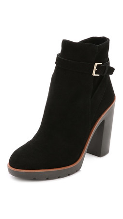 Kate Spade New York Gem Suede Booties - Black