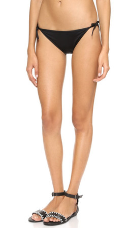 Kate Spade New York Georgica Beach Bow Bikini Bottoms - Black