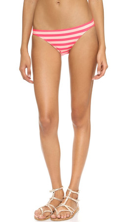 Kate Spade New York Georgica Beach Stripes Bikini Bottoms - Geranium