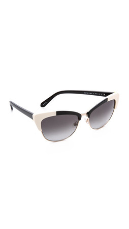 Kate Spade New York Ginette Sunglasses - Black Ivory/Grey Gradient