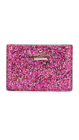 Kate Spade New York Glitter Bug Card Holder - Red Multi