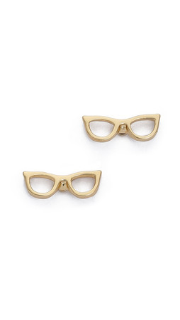 Kate Spade New York Goreski Glasses Stud Earrings - Gold