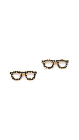 Kate Spade New York Goreski Glasses Stud Earrings - Jet
