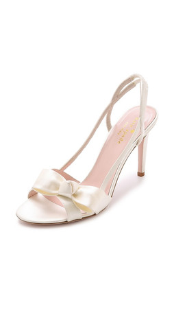 Kate Spade New York Ideal Bow Sandals - Ivory