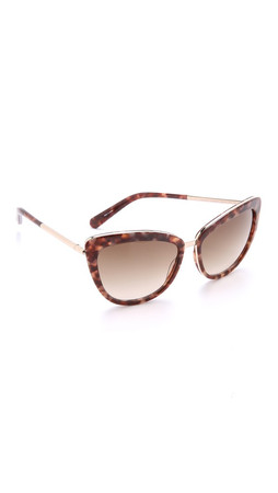 Kate Spade New York Kandi Sunglasses - Blush Tortoise/Warm Brown