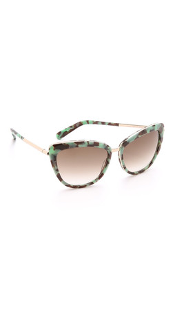 Kate Spade New York Kandi Sunglasses - Mint Tortoise/Brown Gradient