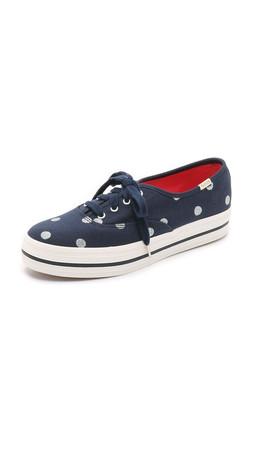 Kate Spade New York Keds For Kate Spade Triple Kick Dot Sneakers - Navy