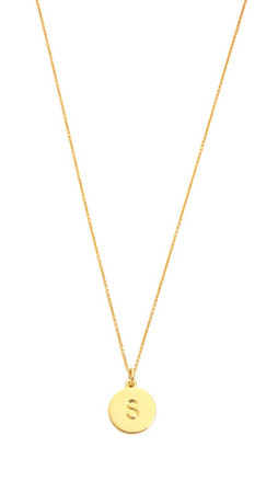 Kate Spade New York Letter Pendant Necklace - S
