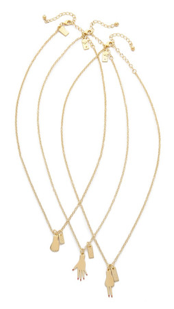 Kate Spade New York Rock Paper Scissors Necklace - Gold