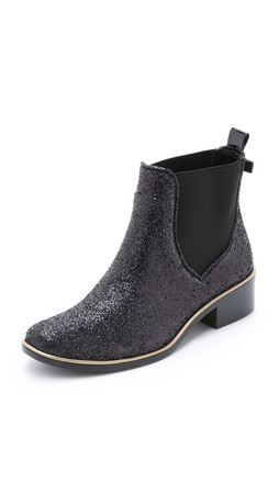 Kate Spade New York Sedgewick Glitter Booties - Black