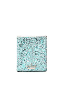 Kate Spade New York Small Stacy Snap Wallet - Baby Blue Multi