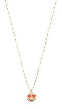 Kate Spade New York Smitten Emoji Pendant Necklace - Black Multi