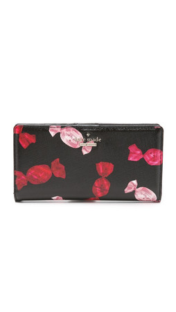 Kate Spade New York Stacy Snap Wallet - Black Multi