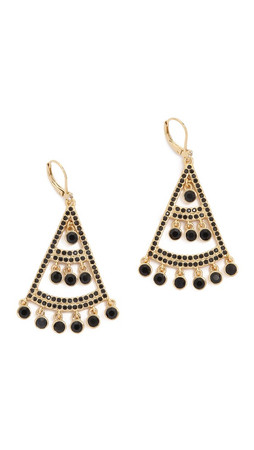 Kate Spade New York Subtle Sparkle Statement Earrings - Jet
