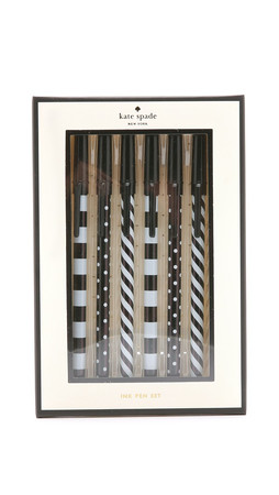 Kate Spade New York Top Of The Line Pen Set - Black/White