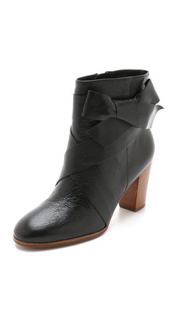Kate Spade New York Tracee Bow Booties - Black