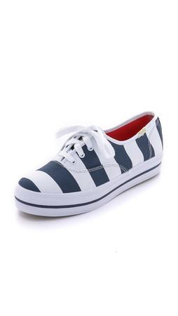 Kate Spade New York Triple Kick Stripe Sneakers - Black Iris/White Stripe