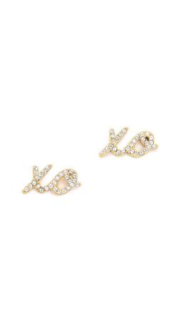 Kate Spade New York Xo Stud Earrings - Clear