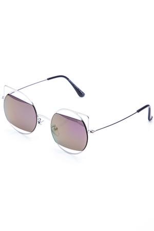 Katerina Silver Retro Sunglasses