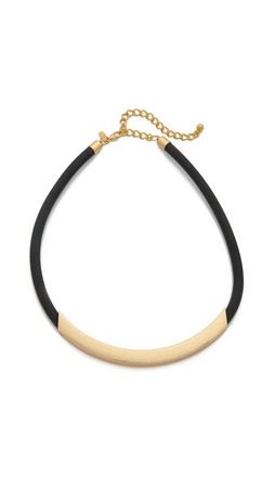 Kenneth Jay Lane Bar Short Necklace - Gold/Black