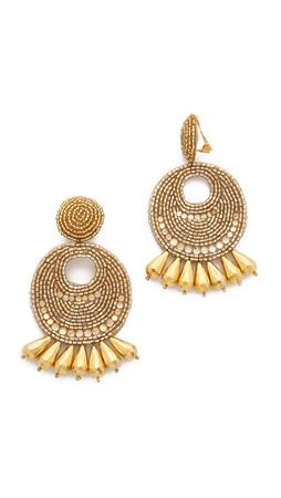 Kenneth Jay Lane Statement Earrings - Gold