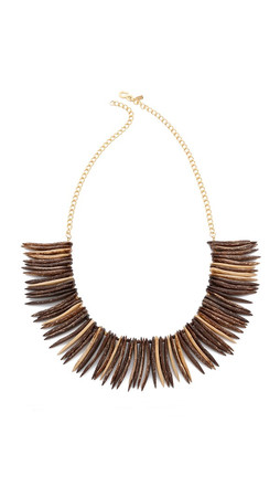Kenneth Jay Lane Tribal Necklace - Gold Multi