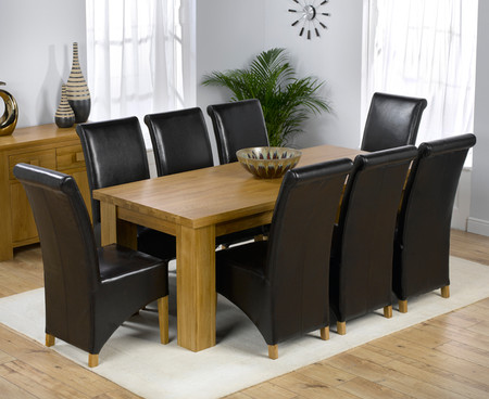 Kentucky Table 200cm with 8 Kentucky Leather Chairs