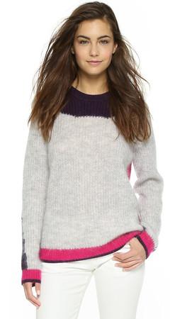 Kenzo Colorblock Pullover - Deep Fuschia