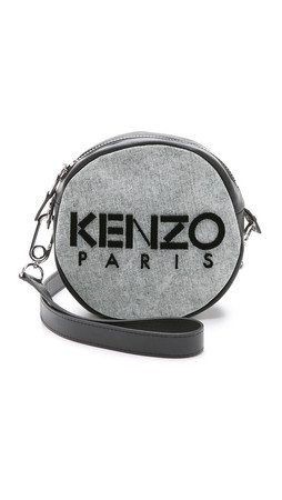 Kenzo Denim Canteen Bag - Grey