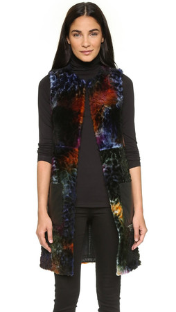 Kenzo Sprayed Shearling Vest - Multicolor