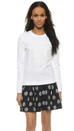 Kenzo Tiger Pullover Sweatshirt - Blanc