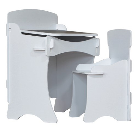 Kidsaw Kidsaw Kinder Desk & Chair In White