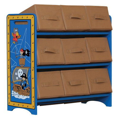 Kidsaw Pirate 9 Bin Storage In Blue