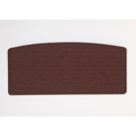 Kyoto Futons Gloucester Curved Fabric Headboard - single - victoria chocolate